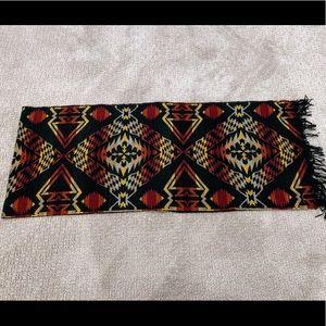 Pendleton Aztec Design Wool Scarf NWOT